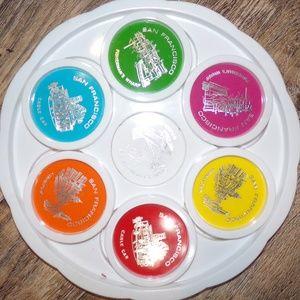 Vintage San Francisco Tray & 6 coasters set